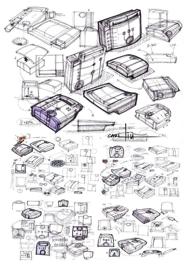 设计概念表达:手绘草图-深圳工业设计