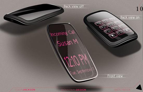 在智能硬件的串联下,在未来,手机和手表的区分不分这么明显,可能都会以可穿戴智能设备的型态出现。一部份祟尚高科技的潮人,不再追求手机的机械情结。如果虚拟现实技术的迎来技术爆炸,也许手机、手表、音源设备如音响、功放等这类产品都不再存在了。  LG Touch的概念手机  Galaxy Skin概念手机  LG概念手机  超薄手镯概念手机  概念HTC手机  概念手机  手机工业设计  老年人专用概念手机  盲人触觉概念手机  模块化可拆分的概念手机  诺基亚概念手机  柔性屏幕概念手机  手机概念设计  透明